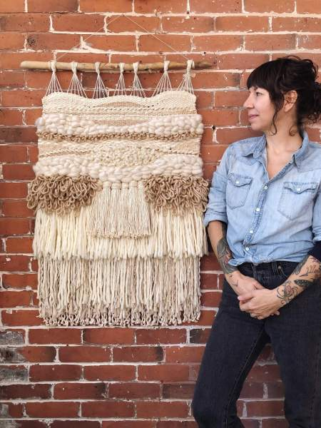 boho farmhouse macrame wall hangings