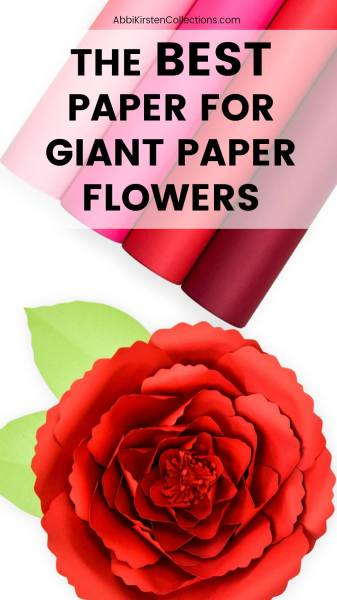What paper to use for paper flowers? I tell you here!