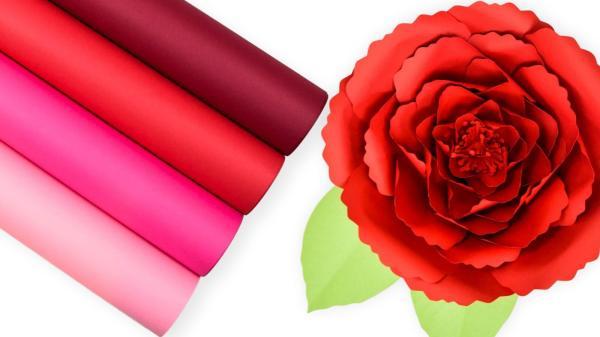 Free poppy paper flower template.
