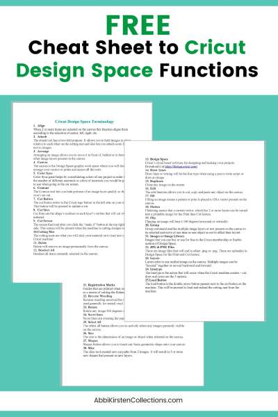 Cricut Design Space Functions for Beginners. A full list of all the terms and functions you need to know for creating inside Design Space. Download a free cheat sheet.