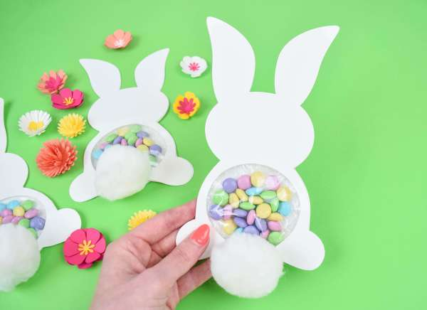 Candy Filled Easter Bunny Craft. Free templates included!