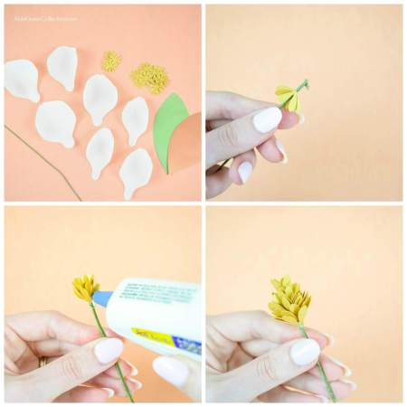 How to make crepe paper flowers.