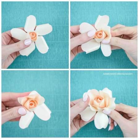 DIY small paper roses