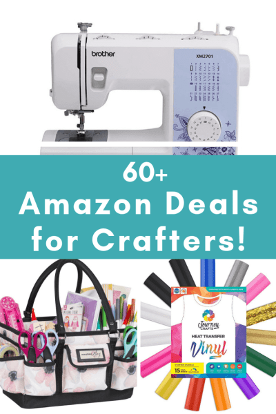The Best Craft Supplies on Amazon for Makers & Artists - Prime Day Deals for crafters. From Cricut supples to to craft kits and sewing machine Amazon has plenty of great deals!