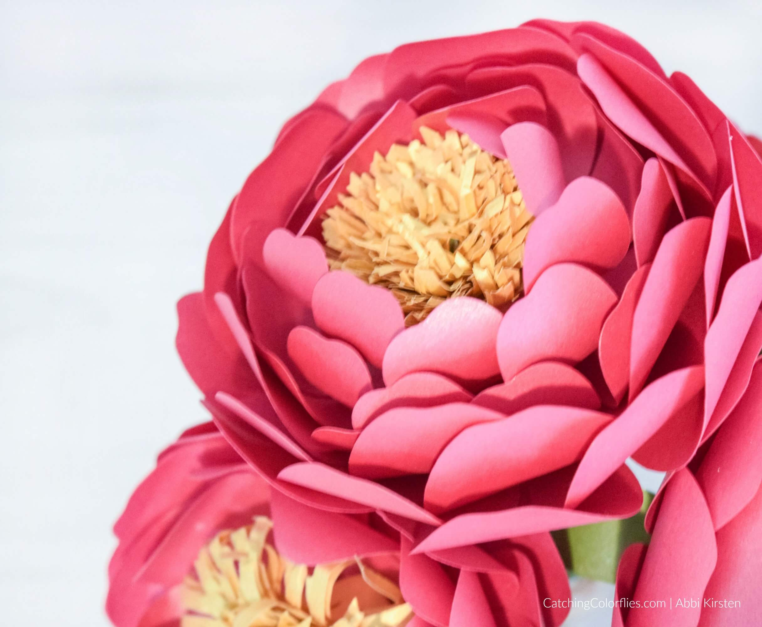 Paper Peony Flower Template: How to Make Small Paper Peonies