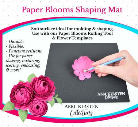 Paper Blooms shaping mat and tool set. For creating beautiful paper flowers.