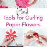 Paper flower supplies - Create easy paper flowers with this list of supplies, paper resources and techniques to make paper flowers come to life!