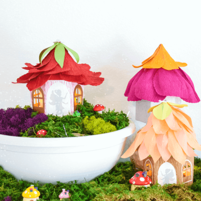 DIY Fairy House Craft: Paper Fairy House Luminaries