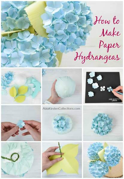 How to make paper hydrangea flowers