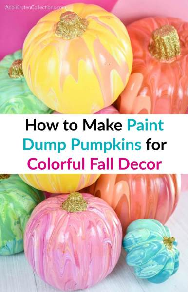 DIY painted pumpkins for fall and halloween