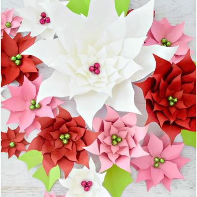 How to Make Christmas Paper Poinsettia Flowers