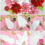 DIY giant paper poinsettia flower tutorial and template