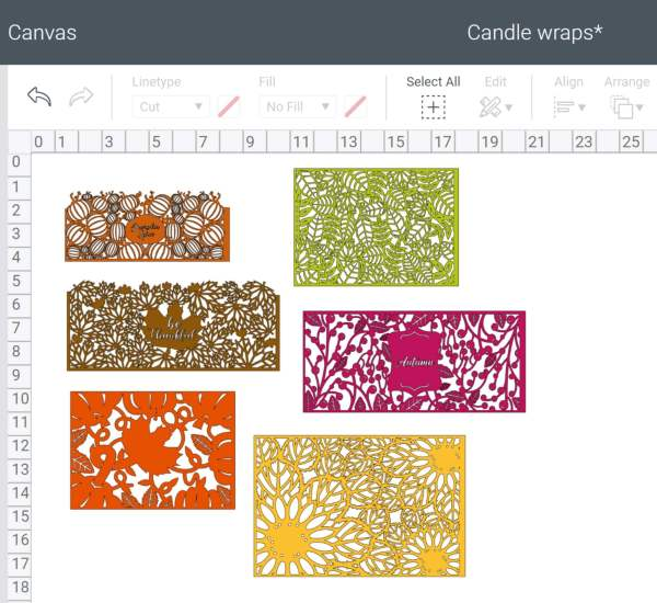 Free SVG candle wraps