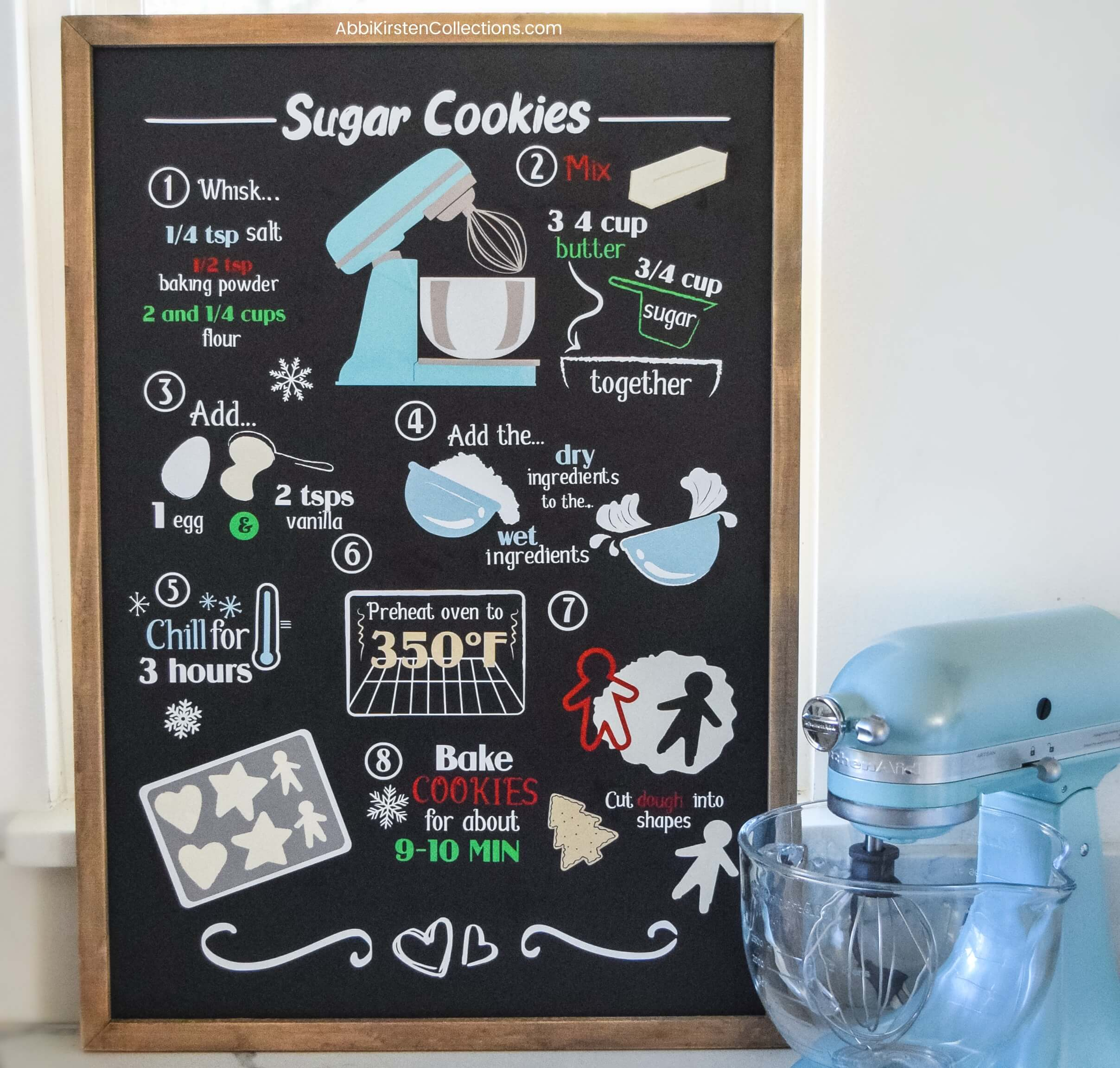DIY Christmas Signs: Custom Recipe Sign with Vinyl: Free SVG Files for Cricut or Silhouette