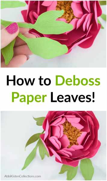 Making paper leaves look realistic is easy when you use the Cricut Maker quickswap deboss tool. Add texture to any paper craft. Free leaf svg cut files.