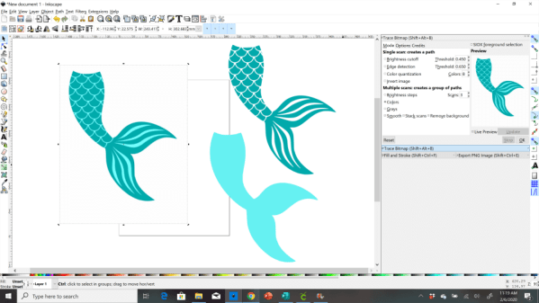 convert an image to an svg in inkscape