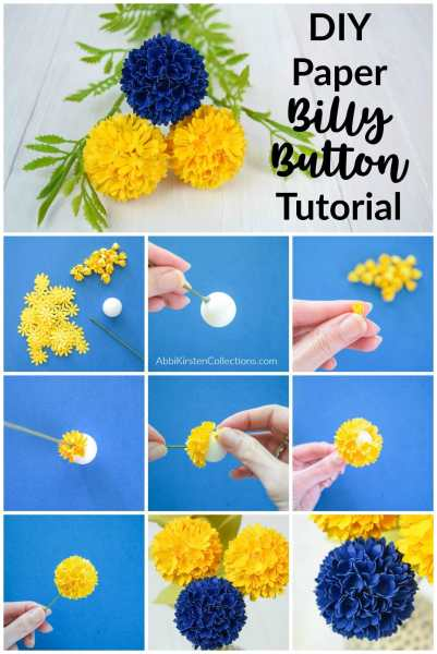 Easily make these beautiful billy ball flowers, perfect for bouquets, corsages or wreaths! Download your free template here.