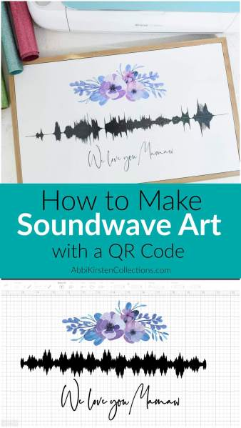 How to make sound wave art with a QR code.