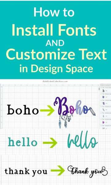 How to install fonts in Cricut Design Space. How to add special character glyphs to your text. Plus learn how to weld your text and keep it organized!