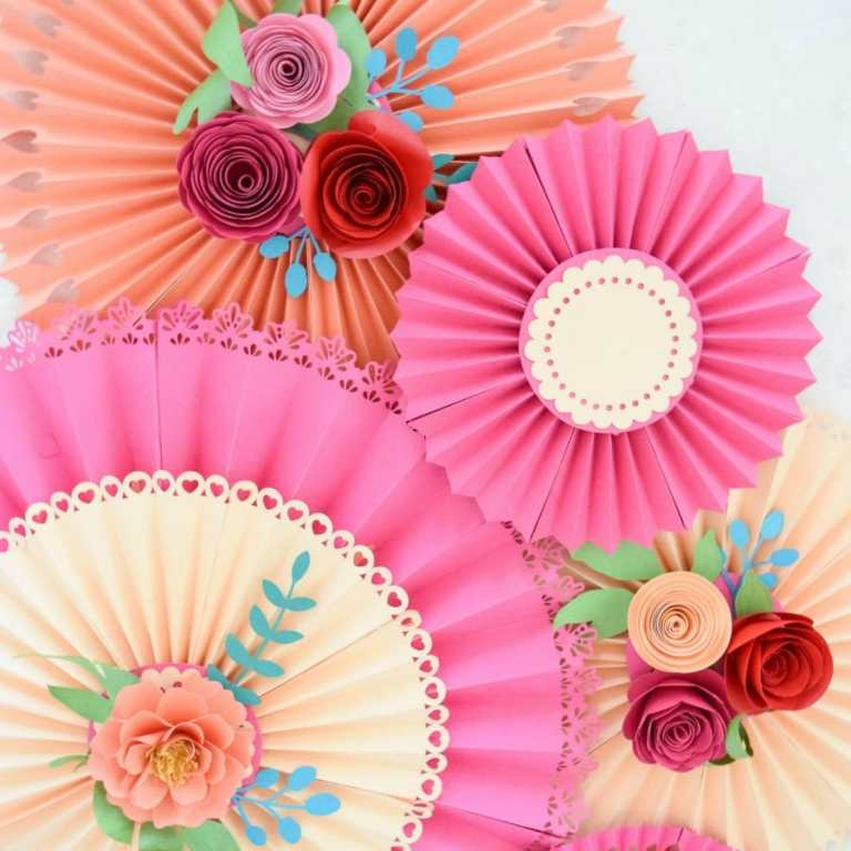 How to Easily Make Paper Rosette Fans for Party Decorations with Free Templates