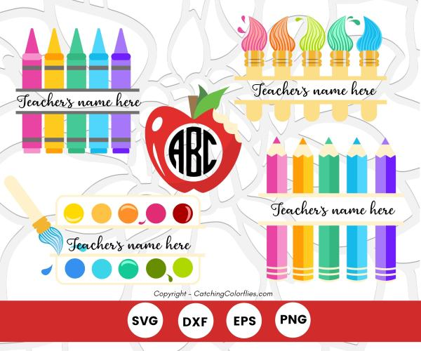 Teacher appreciation SVG cut files to use with Cricut or Silhouette. Create easy DIY teacher gifts.