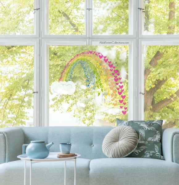 Free rainbow SVG cut files for crafting with your Cricut machine. World of rainbow project. Decorate your windows with rainbows.