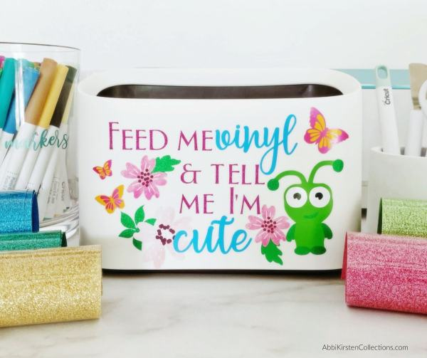 tabletop trash can for craft scraps