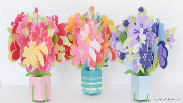 Flower popup card DIY