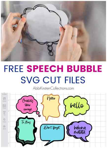 Use these FREE Speech Bubble SVG Cut Files to eliminate some counter clutter with Cricut Dry Erase Vinyl. Free speech bubble SVG downloads.