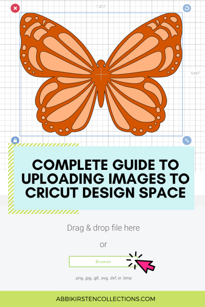 New to Cricut? Learn how to upload your own SVG cut files and images to Cricut Design Space with this step by step tutorial for beginners.