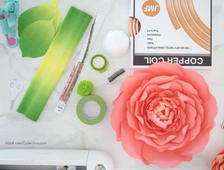 Supplies to make stems for large paper flowers