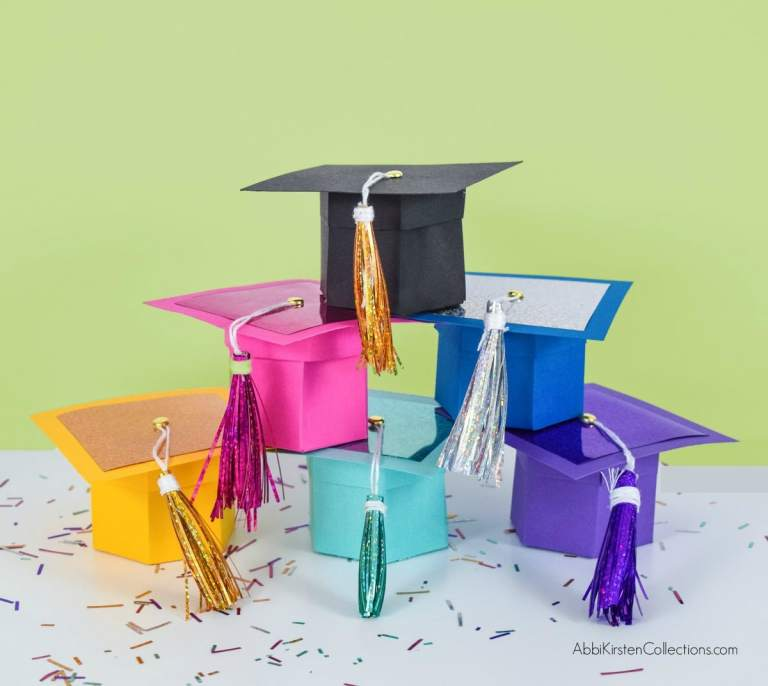 How to Make a Graduation Cap Gift Box with Free Templates