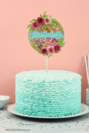 DIY confetti shaker cake topper with your Cricut machine. Creating custom cake toppers is easy with your Cricut machine. Use this shaker cake topper tutorial to create any theme.
