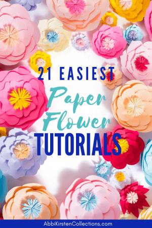 The best paper flower tutorials for beginners. Use these paper flower templates with your cutting machine or cut by hand with scissors!