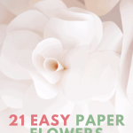 Paper flower tutorials easy enough for beginners.