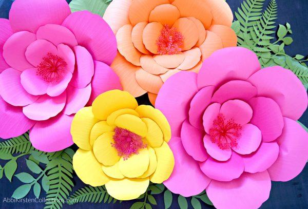 giant hibiscus flowers.