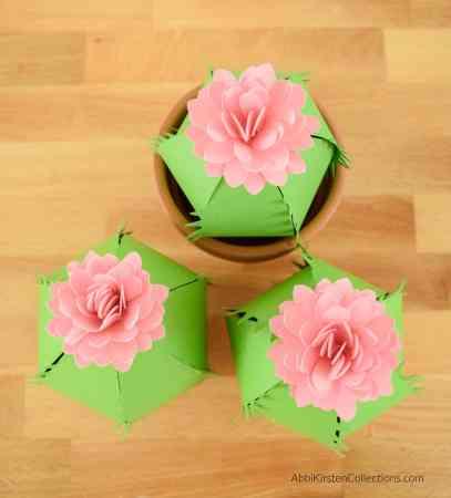 Ferocactus paper craft tutorial