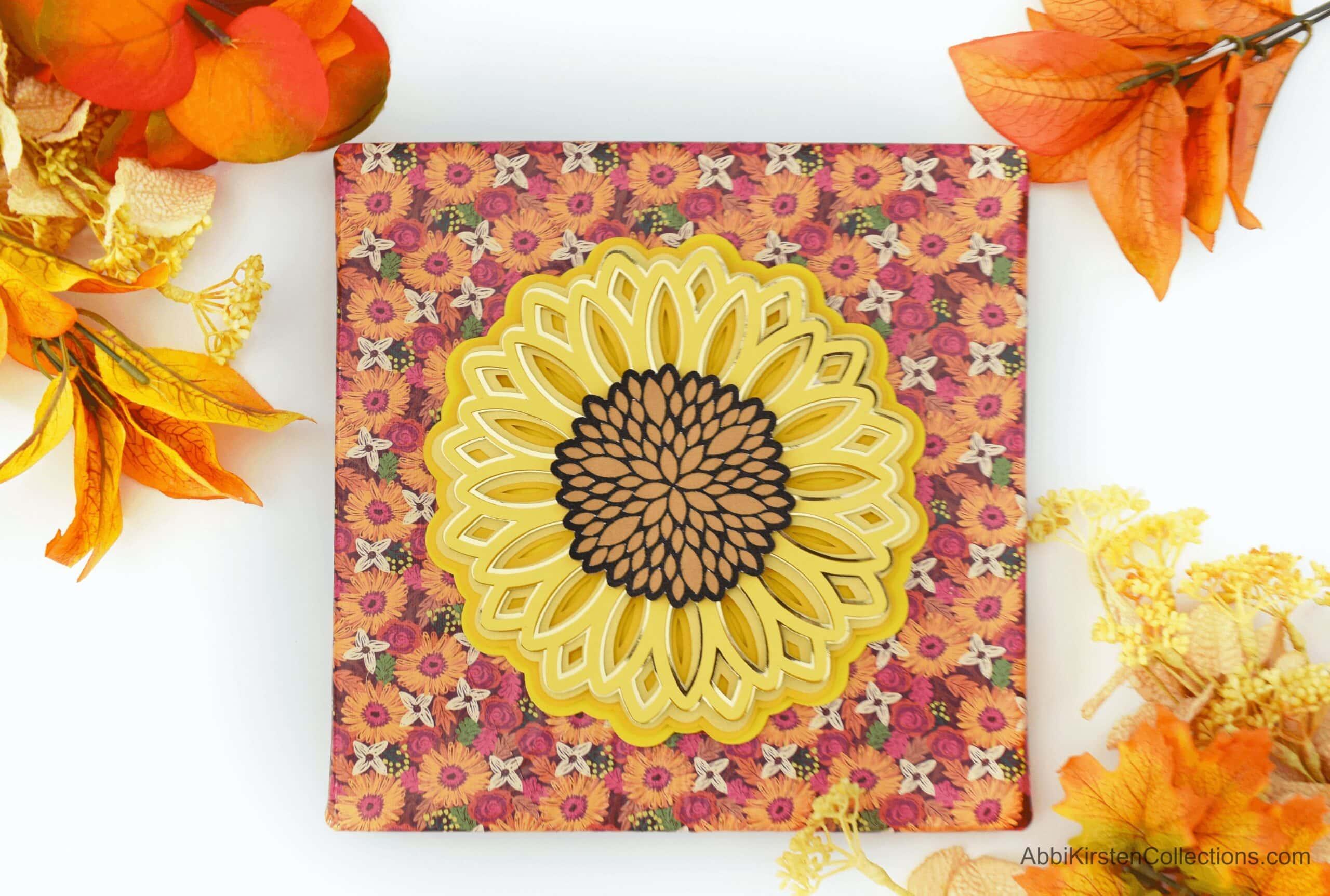 3D Layered Paper Mandala Craft Tutorial – Sunflower Layered Mandala SVG File