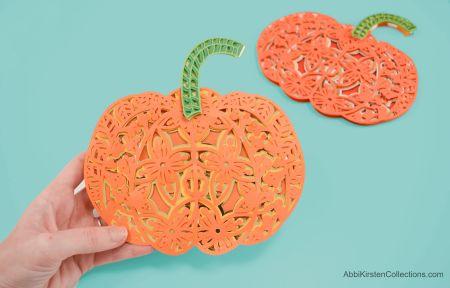 paper pumpkin mandala svg