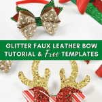 Free Faux Leather Hair Bow Templates and Tutorial