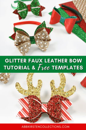 Free Printable PDF and SVG Hair Bow Templates. How to make glitter faux leather bows step by step. Download the free templates.