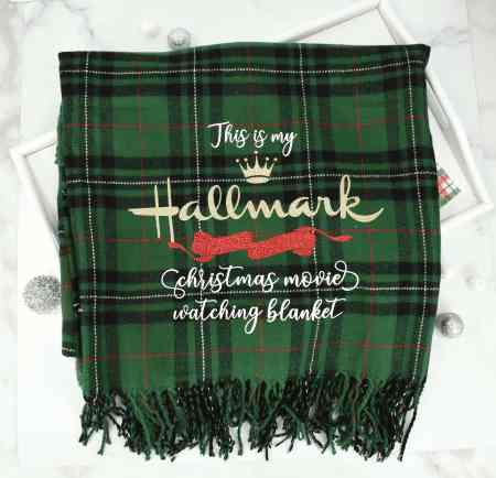 This is my Hallmark Christmas movie watching blanket free svg cut file for Cricut.