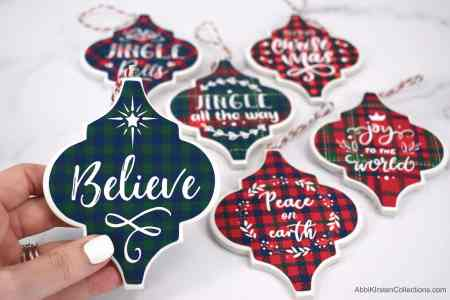 How to Make Tile Arabesque Christmas Ornaments