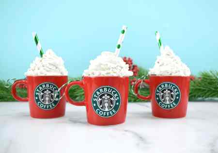 DIY Starbucks coffee ornament