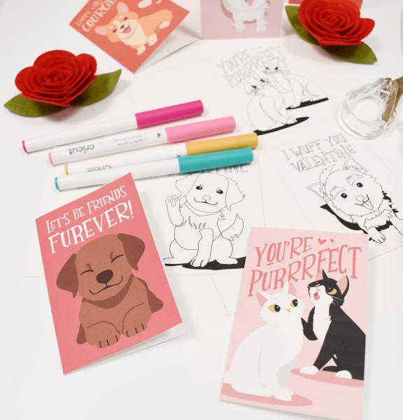 Free Valentine's Printables for Kids. Puppy Dog Valentines Day Coloring Cards. Download your free valentine's printables here.