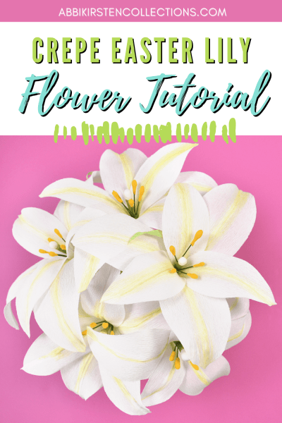 Create Easter paper lilies with crepe paper.