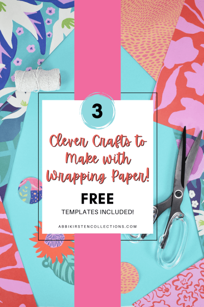 Use wrapping paper for more than just gifts. Wrapping paper can be used for crafting banners, decorating your home and much more.