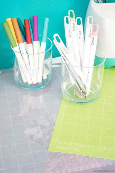 Cricut pens and other accessories you will need to use your Cricut machine.