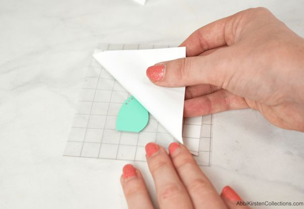 How to lift your liner from the transfer tape.