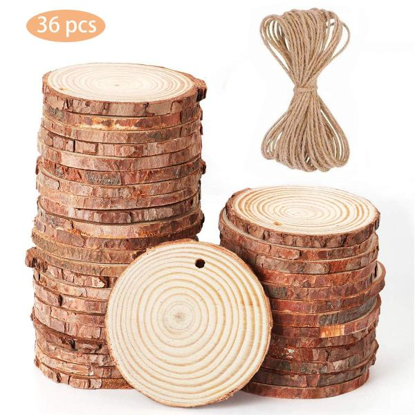 Blank wood rounds for crafts